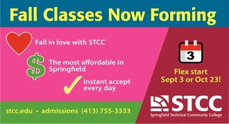 Fall Classes Now Forming